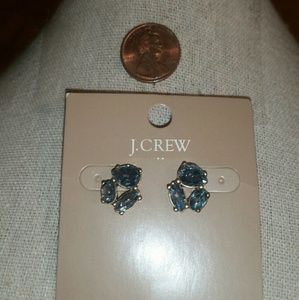 J. Crew Antique Gold, Light Baby Blue Crystal Earr
